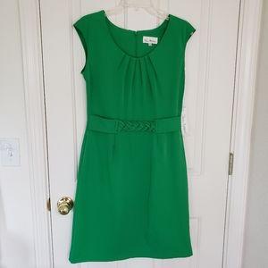 Olivia Matthew's Green Cap Sleeve Dress Size 8